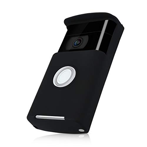 kwmobile ring Video Doorbell Case - Protective Silicone Cover for ring Video Doorbell Black