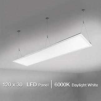 Lighting EVER Pannello LED di Ricambio Plafoniera da Ufficio Lampada a Sospensione per Tubo Fluorescente da 80 W