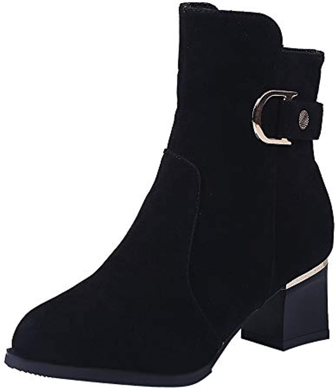 Bottes Daim Femme Vintage, GongzhuMM Hiver Mi-Bottes noël Femme en Daim Bottes Bottines Bottes de Neige Chaussures Talons...B07HJ92VQDParent 576951