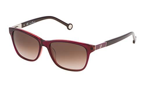 Carolina Herrera Damen SHE643540N18 Sonnenbrille, Rot (Rojo), 54