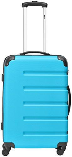Packenger 3er Koffer-Set Marina Trolley-Set Hartschale (M, L & XL) in Blau/4 Gummi Rollen (360°)/Koffer mit Zahlenschloss/stabiler eleganter Alltags Rollkoffer & Reisekoffer/Material: ABS/Farbauswahl - 5