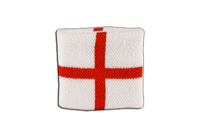 Flaggenfritze Schweißband Motiv Fahne/Flagge England St. George + gratis Aufkleber (St George Flagge Aufkleber)
