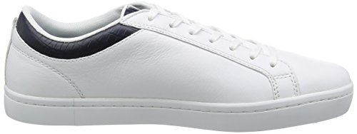 Lacoste Straightset G316 3, Sneaker Basse Uomo Weiß (Wht/NVY 042)