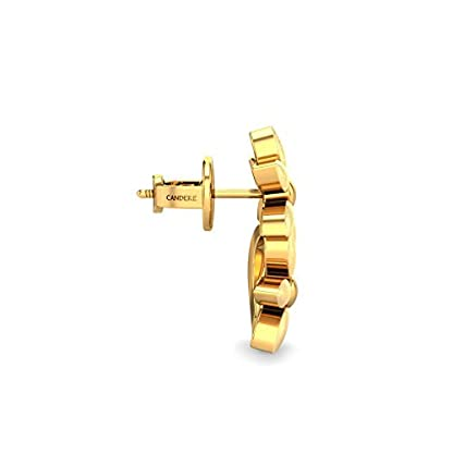 Candere By Kalyan Jewellers 22k (916) Yellow Gold Fiona Stud Earrings for Women