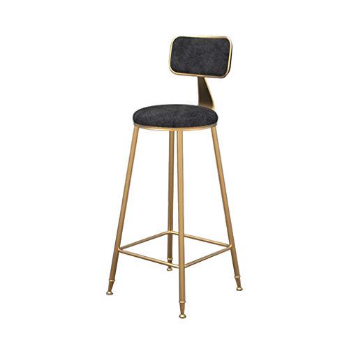 Comif - Eisen Barhocker Hochstuhl, Flanell Stoff und Rückenlehne, für Cafe Restaurant Bistro (Multi-Color Optional, Sitzhöhe: 75cm) - Barhocker Eisen