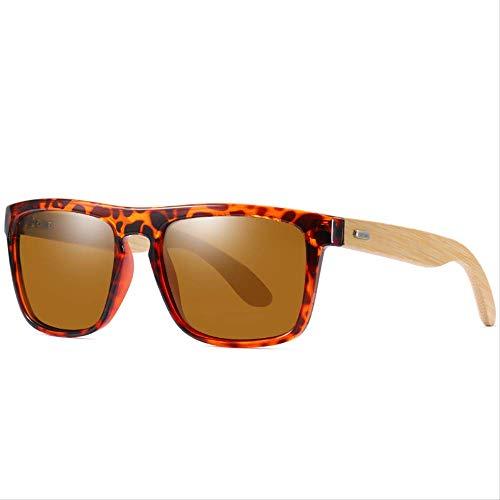 MJDL Natürliche Bambus Sonnenbrille Männer Polarisierte Ferris Mode Reisen Sonnenbrille Holz Oculos Spiel Für Frauen Shades C3