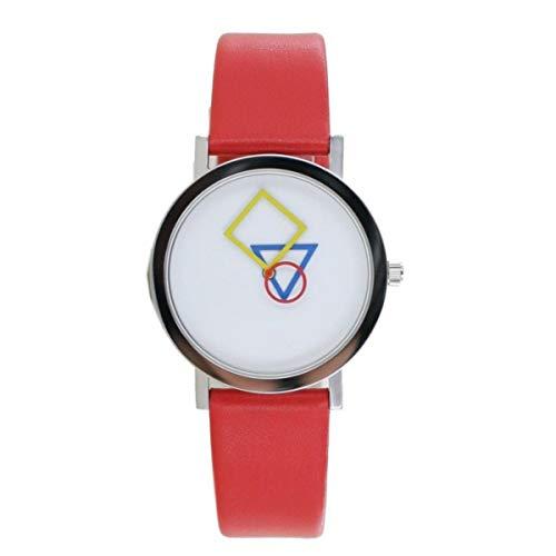 Aristo Bauhaus Damen Uhr Edelstahl 4D85R Leder rot