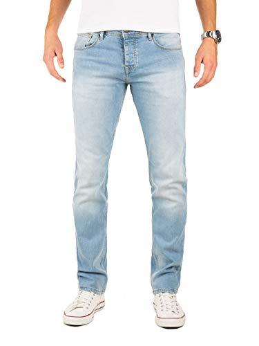 Yazubi Jeans Herren Edvin Slim - Jeans Hosen für Männer - hellblaue Lange Denim Stretch Hose Jeanshose Regular, Blau (Flint Stone 183916), W33/L34
