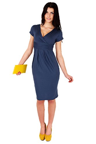 KingField - Robe - Crayon - Manches Courtes - Femme Bleu profond