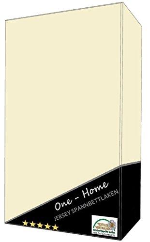 2er Pack Spannbettlaken Wollweiß ( natur ) 90 - 100 cm x 200 cm ( Jersey ) 100% Baumwolle mit Rundumgummizug
