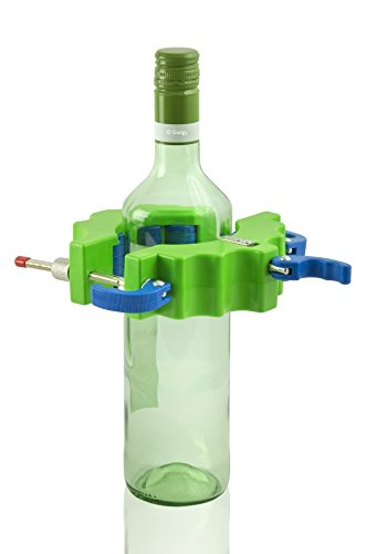 Gadgy ® Glasschneider Rund | Flaschenschneider Bottle Cutter Flasche Fräser | Glas Kerzenhalter Teelichtstander herstellen | Plastik Grün