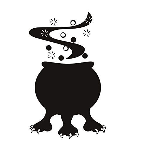 Halloween Cauldron Monster Vinyl DIY Wandaufkleber Für Wohnzimmer Abnehmbare Selbstklebende Wand-dekor Abziehbilder Dekoration 44 * 73 cm