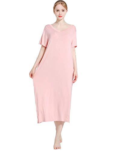 Camisón Mujer Verano Pijama Modal Manga Corta Camisón