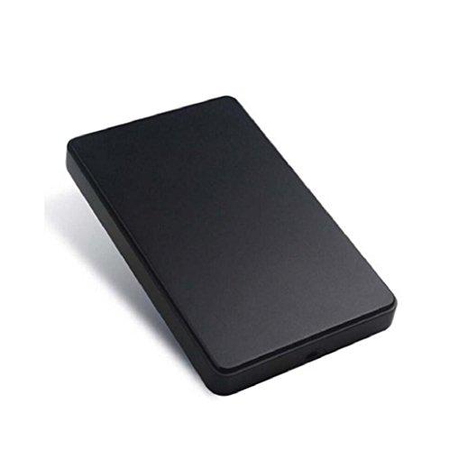 Caso para Discos duros externos 2tb baratos pequeños USB2.0 Sannysis External Hard Drives discos duros portatiles multimedia FUNDA para windows XP/Win7/Win8, LINU and MAX (negro)