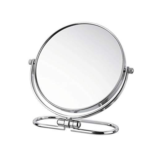SOARLL Kosmetikspiegel Kosmetikspiegel, 8 Zoll gefaltet 3X Lupe doppelseitige Proof Nebel Rost, Vanity Badezimmer Schlafzimmer Büro Juweliergeschäft Hotel (Size : 8 inch)