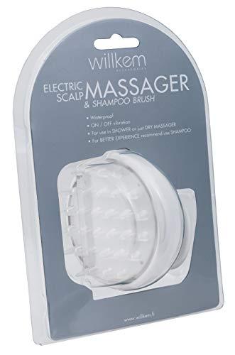 Willkem - Cepillo masajeador vibrador cuero cabelludo