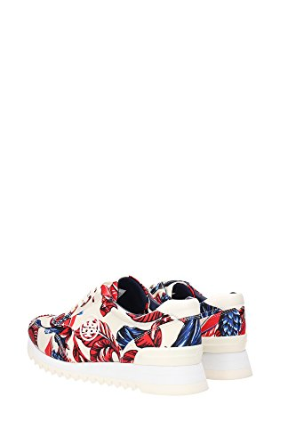 52158205OVERSIZEDFLORAL Tory Burch Sneakers Femme Tissu Rouge Rouge