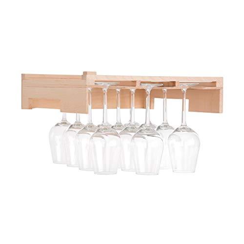 Klarstein Barossa 77D • Etagère de verres à vin • Accessoire pour cave • 3 rails bois