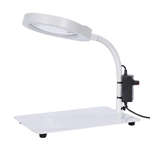 Mufly Schreibtischlampe mit LED-Tageslicht,10X Tisch Lupe Lampe Tischlupe Lupenleuchte für handwerkliche Arbeiten,Lesen,Arbeit,Nähen,Hobbys,Sehschwäche -