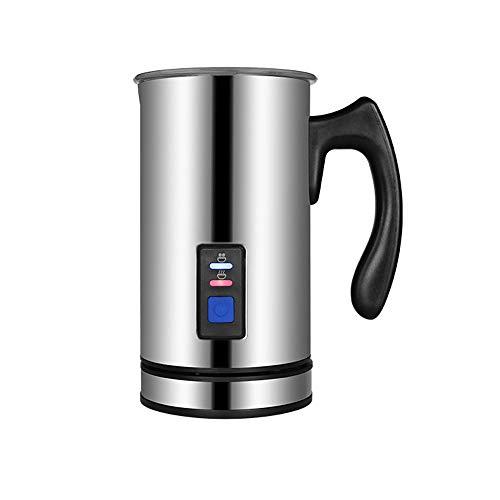 3 Creamer (CONRAL Elektrische automatische Milchaufschäumer, Schaumerzeuger Heiß oder kalt für Kaffee Essperso-Cappuccino-Milchkocher, Creamer-Milchkocher mit 3 Funktionen, Silber Edelstahl)