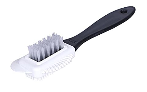 Kaps Quality Nubuck and Suede Multifunctional 4-Sided Cleaning Shoe Brush, Nylon Bristle, Cleans and Gives Perfect