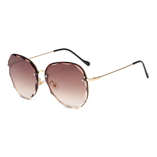 Hqmglasses 2019 occhiali da sole aviator oversize moda gradiente lente parasole occhiali da sole guida vacanza uv400,darkbrowngradientlens
