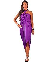 Sarong rouge à aspect fumé GRANDE taille SANS FRANGES pour femmes de 1 World Sarongs