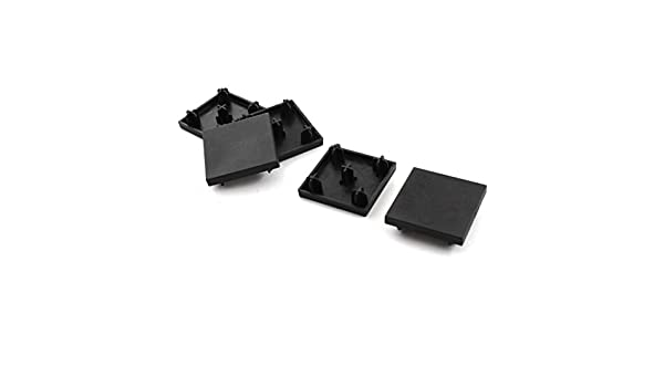 5/pi/èces 40/mm x 40/mm carr/é noir Cover Cap Profil aluminium Extrusion fin
