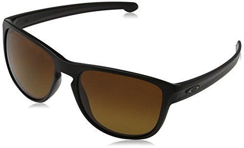 Oakley Herren Sonnenbrille SLIVER R Blau (Matte Black), 57
