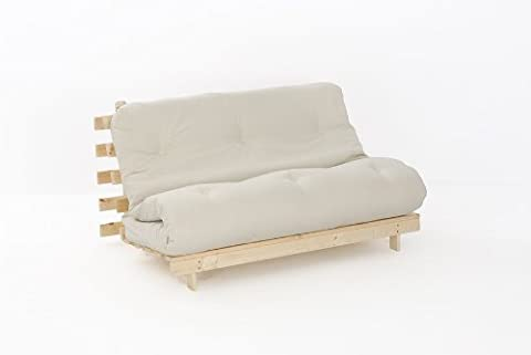 Double Wood Futon with NATURAL Colour Mattress
