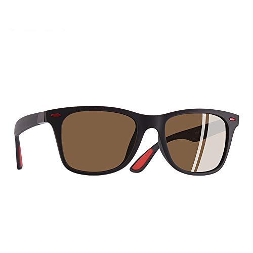 JU DA Sonnenbrillen Ultraleichte Tr90 Polarisierte Sonnenbrille Männer Frauen Fahren Platz Stil Sonnenbrille Männliche Brille Uv400 Gafas De Sol C4Matte Brown