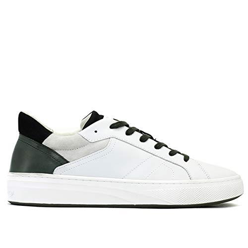 4fc686f7a92fd Crime London Sneaker Force Bassa in Pelle Uomo White 44