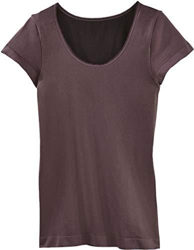 Golden Lutz - Damen Thermo-Unterhemd, T-Shirt Kurzarm (aubergine, Gr. S - 36/38) | ESMARA® Lingerie