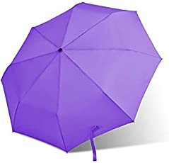 Brown Leaf® Purple Colour High Quality 3 Fold Full Size Automatic Umbrella with Cover