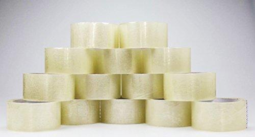 14 Rollen Generic Paketband Klebeband Packband Klar 50 mm x 66 m (14 Rollen, Transparent)