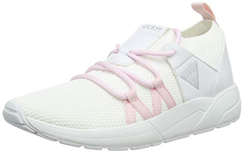 Guess Veller/Active Lady/Fabric, Sneaker Donna, Bianco, 38 EU
