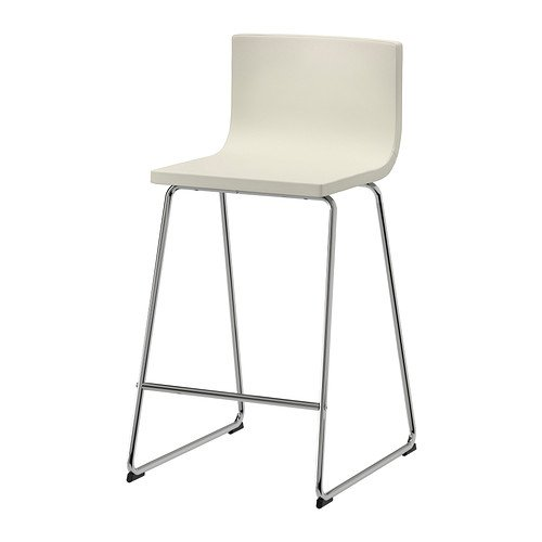 Ikea BERNHARD - Taburete de Bar con Respaldo, Cromado, Kavat ...