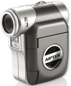 Aiptek Pocket DV T 250 LE digitaler Camcorder (SD/MMC-Card, 5 Megapixel, 4-fach digitaler Zoom, 1,5