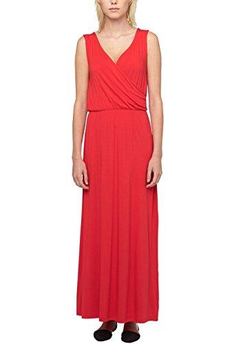 s.Oliver Damen Kleid 14.506.81.8127, Maxi, Einfarbig, Gr. 38, Rot (glaring red 3100)