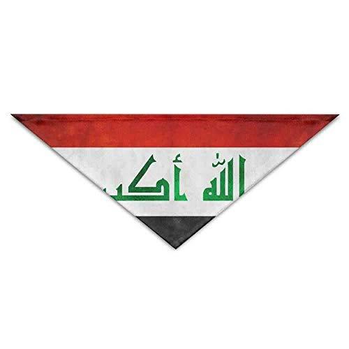 Sdltkhy Retro Iraq Flag Dog Bandanas Scarves Triangle Bibs Scarfs Cute Basic Neckerchief Cat Collars Pet Costume Accessory Kerchief Holiday Birthday Gift