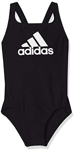 adidas Mädchen Badge of Sport Badeanzug, Black, 140 (Mädchen Adidas Badeanzug)