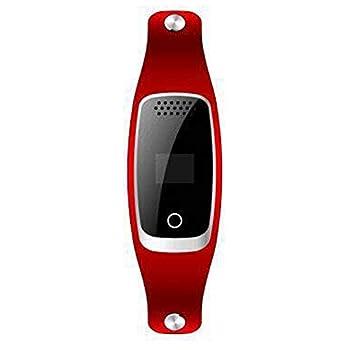 DjfLight Collier GPS pour Chat et Chien,Traqueur Micro imperméable de Collier d'anti-Perte, Chat, Vache, Mouton, Chien, pistage,Red