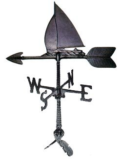 Montague Metal Products 24-Inch Weathervane with Sailboat Ornament