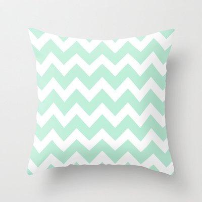 Preisvergleich Produktbild Home Decor Throw Pillow Covers New Chevron Mint Green & White Pillowcase Fashion Decoration pillowcases