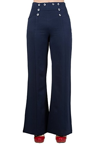 Dancing Days by Banned Marlenehose STAY AWHILE TROUSERS 4051 Navy