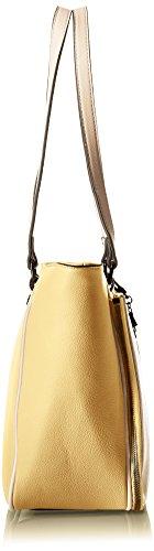 YNOT Shopping M, Borsa a Spalla Donna, 41 x 28 x 11 cm (W x H x L) Multicolore (Giallo-Rev)