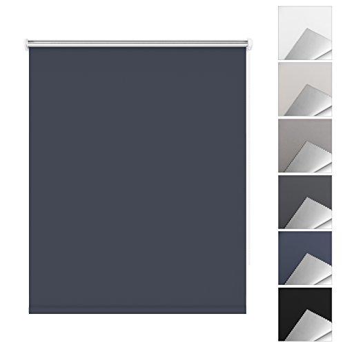 Tenda a rullo oscurante e termica isolante facili da montare senza viti per finestre o porte - 45 x 170 cm, blu