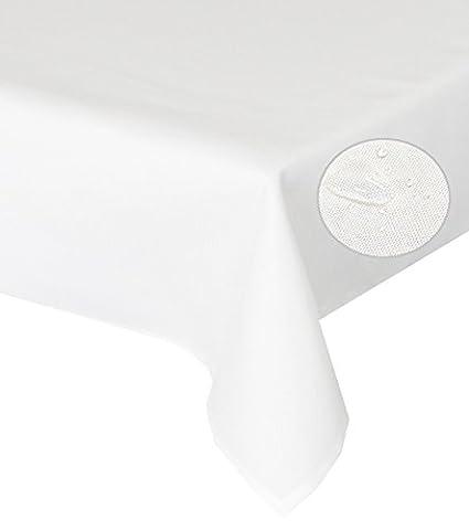 Tischdecke creme 110x160cm Lotuseffekt, abwaschbar, Schmutz- und Wasserabweisend, eckig - Größe, Farbe & Form wählbar (Rund Eckig Oval)