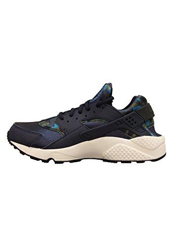 Nike Wmns Air Huarache Run Print, Chaussures de Sport Mixte Adulte Azul Marino (Obsidian / Black-Sail)