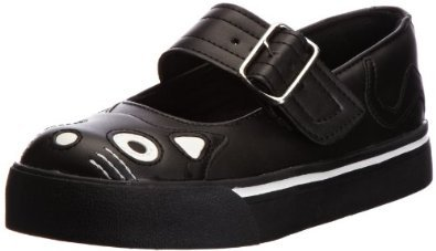 Tuk. A6467L TUK taglia 42 New donna Kitty Mary Jane Sneaker Nero PU Goth-donne-Schuhe
